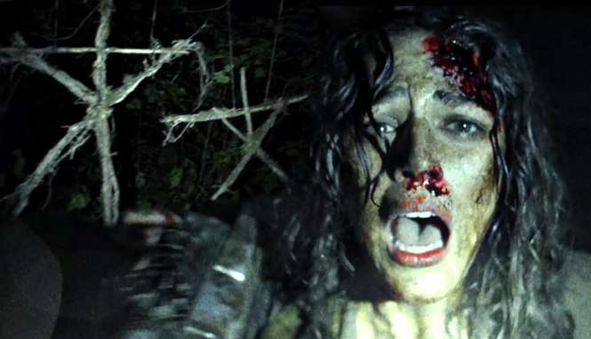 "fot. kadr z filmu ""Blair Witch"""
