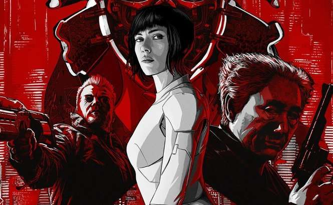 "fot. plakat filmu ""Ghost in the Shell"""