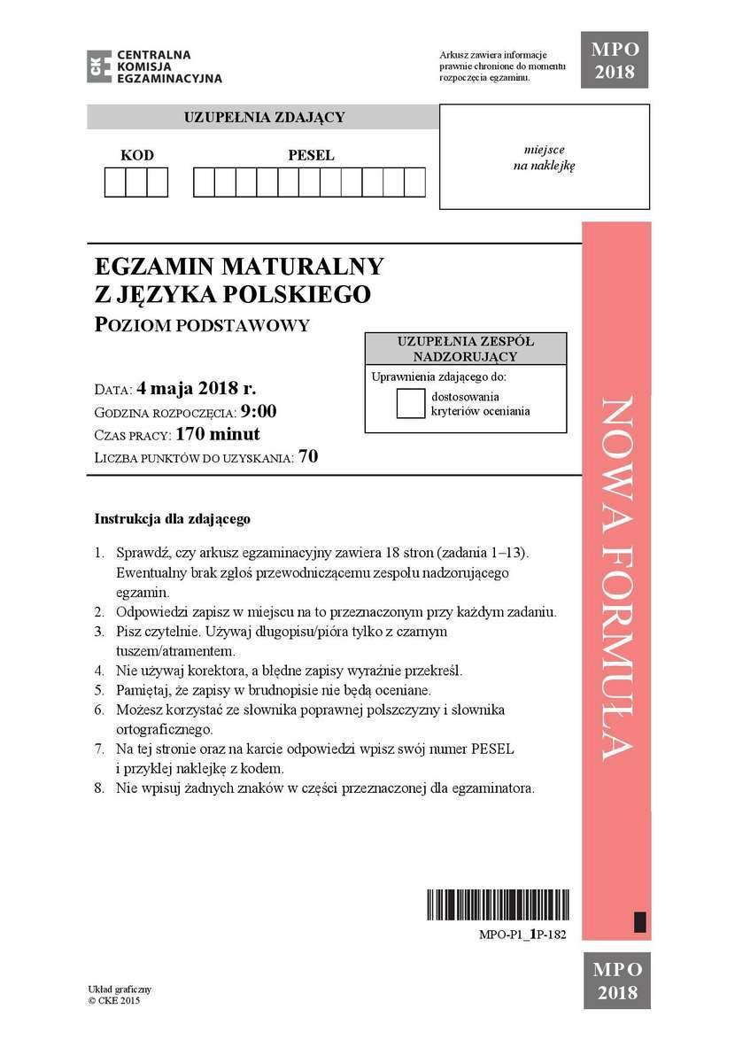 matura język polski 2021 cke