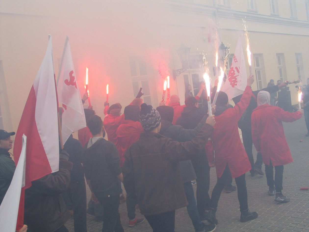 ZOMO rozgoniło demonstrantów