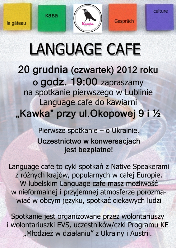 Language cafe w Kawce