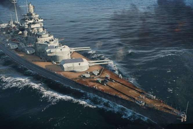 Niemiecki pancernik Bismarck w grze World of Warships