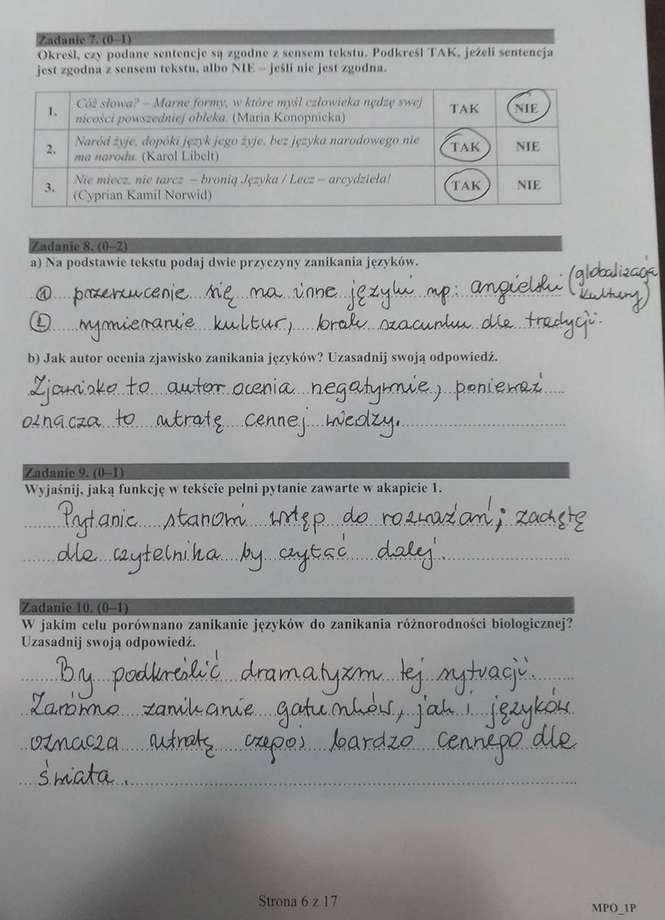 Matura 2017 Język Polski Są Odpowiedzi Rozwiązania
