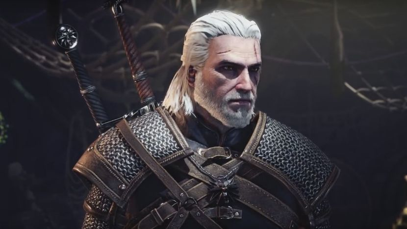 Wiedźmin Geralt w grze Montser Hunter: World
