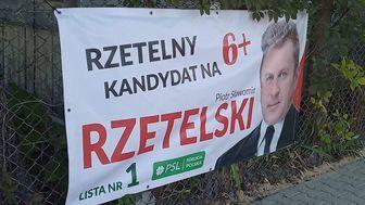 Plakat Wyborczy Zawieszony Bez Zgody Właściciela Ogrodzenia