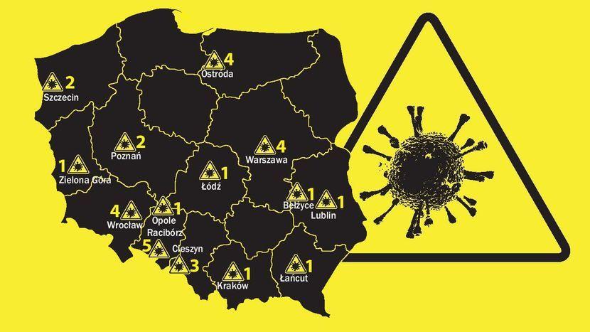 Mapa Koronawirusa W Polsce Wszystkie Dotychczasowe Przypadki